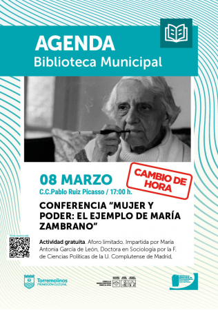 Conferencia - Mujer y poder: el ejemplo de María Zambrano
