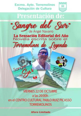 """Presentación del libro """"Sangre del Sur"""" de Ángel Navarro"""