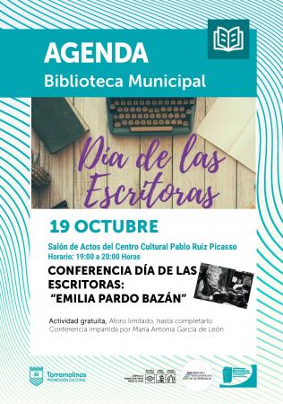"""Conferencia Día de las Escritoras: """"Emilia Pardo Bazán"""""""