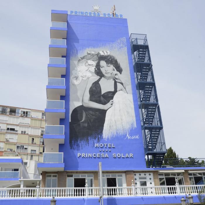 Ava Gardner dazzles from the façade of the Hotel Princesa Solar in Torremolinos
